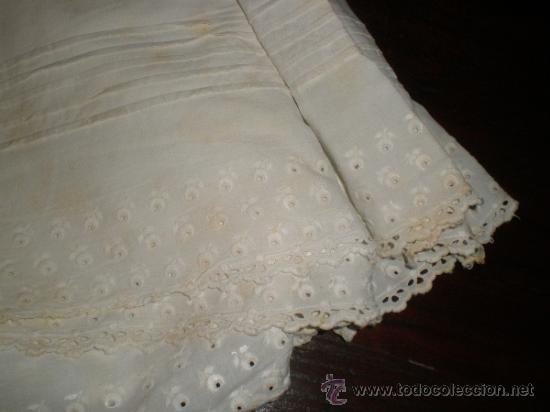 Antigüedades: faldon ,falda trozo tela - Foto 6 - 34219181