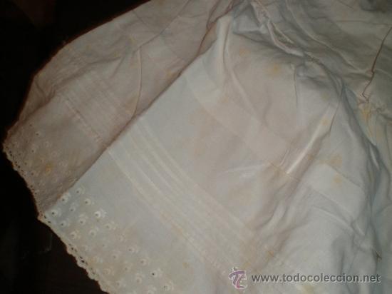 Antigüedades: faldon ,falda trozo tela - Foto 5 - 34219181