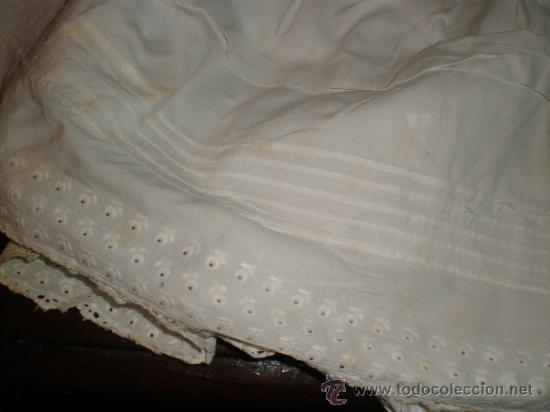 Antigüedades: faldon ,falda trozo tela - Foto 3 - 34219181
