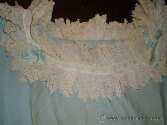 Antigüedades: vestido azul - Foto 4 - 34219085