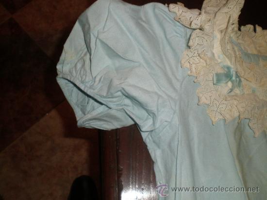 Antigüedades: vestido azul - Foto 9 - 34219085