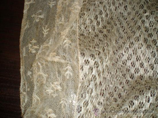 Antigüedades: mantilla blanca - Foto 8 - 34218581
