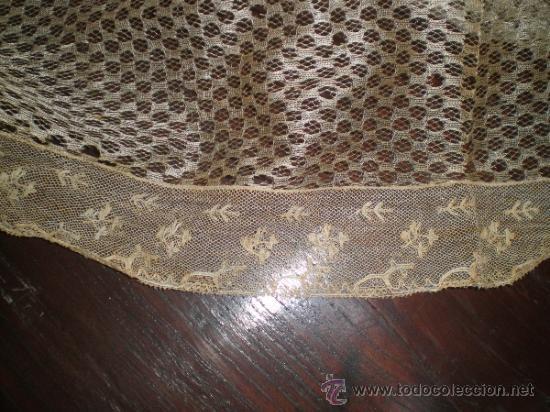 Antigüedades: mantilla blanca - Foto 7 - 34218581