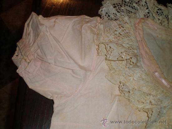 Antigüedades: vestido camison rosa - Foto 2 - 34236436