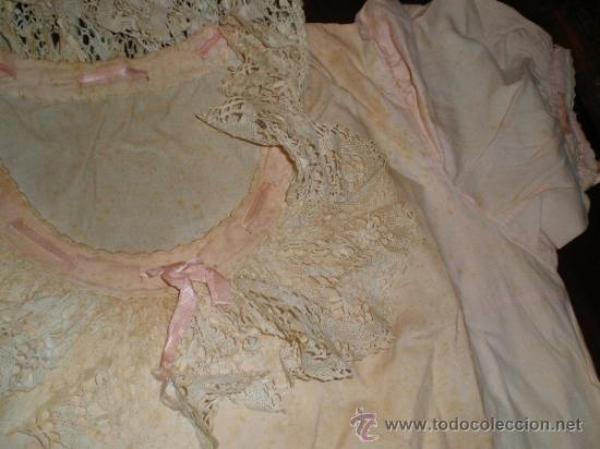 Antigüedades: vestido camison rosa - Foto 5 - 34236436