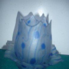 Antigüedades: JARRON O TULIPA CON PLATO CRISTAL. Lote 34227388