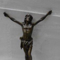 Antigüedades: ANTIGUO CRISTO DE BRONCE. 22X16CM - FALTA LA CRUZ. Lote 36137960