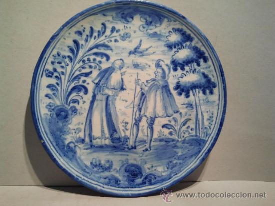 SALVILLA DE CERÁMICA DE TALAVERA. MARCAS DE TALAVERA-NIVEIRO Y ESCUDO DEL CARMELO. (Antigüedades - Porcelanas y Cerámicas - Talavera)