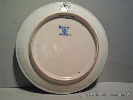 Antigüedades: Salvilla de cerámica de Talavera. Marcas de Talavera-Niveiro y escudo del Carmelo. - Foto 3 - 34241826