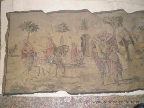 TAPIZ MAQUINA (Antigüedades - Hogar y Decoración - Tapices Antiguos)