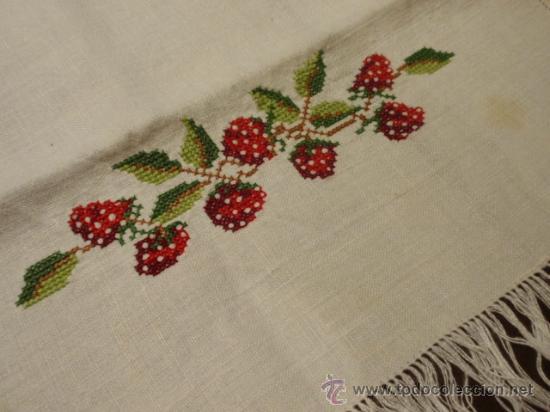 Manteles individuales con servilletas bordado comprar for Telas para manteles precios