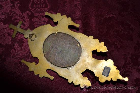 Antigüedades: PILA BENDITERA CON PINTURA EN PORCELANA - Foto 8 - 34264514