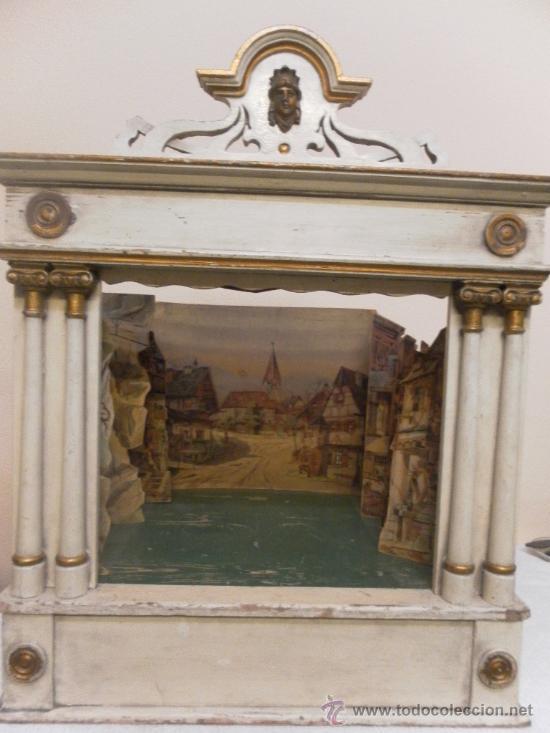 Antigüedades: Excepcional y antiguo. Teatro o Teatrillo. Época imperio. 1820/1840. - Foto 62 - 34266034
