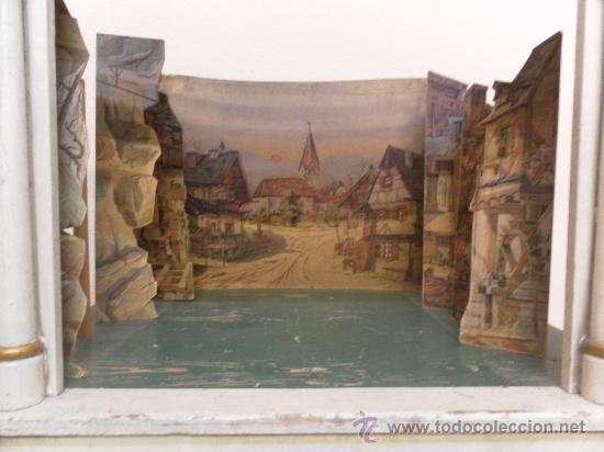 Antigüedades: Excepcional y antiguo. Teatro o Teatrillo. Época imperio. 1820/1840. - Foto 63 - 34266034
