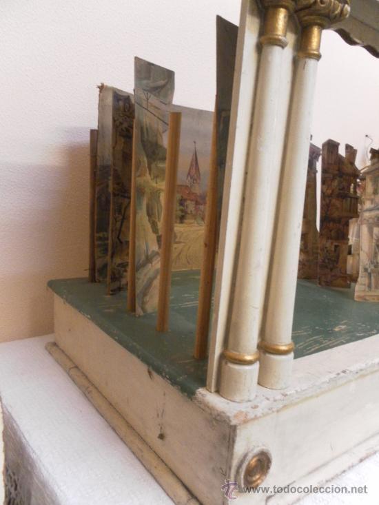 Antigüedades: Excepcional y antiguo. Teatro o Teatrillo. Época imperio. 1820/1840. - Foto 71 - 34266034