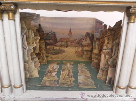 Antigüedades: Excepcional y antiguo. Teatro o Teatrillo. Época imperio. 1820/1840. - Foto 72 - 34266034