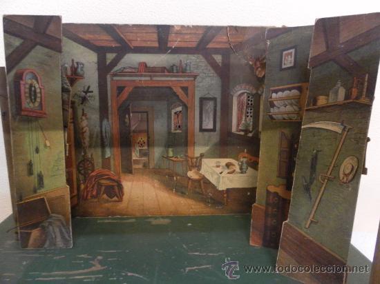 Antigüedades: Excepcional y antiguo. Teatro o Teatrillo. Época imperio. 1820/1840. - Foto 82 - 34266034