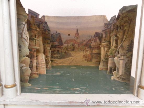 Antigüedades: Excepcional y antiguo. Teatro o Teatrillo. Época imperio. 1820/1840. - Foto 110 - 34266034
