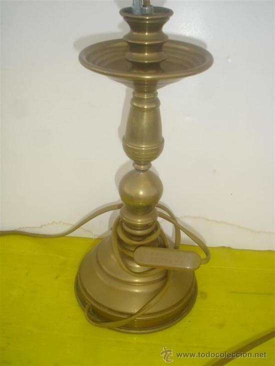 Antigüedades: candelabro de metal - Foto 2 - 34271586