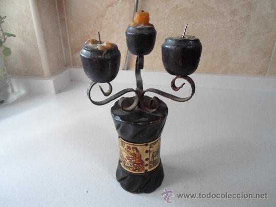 ANTIGUO PORTAVELA (Antigüedades - Hogar y Decoración - Portavelas Antiguas)