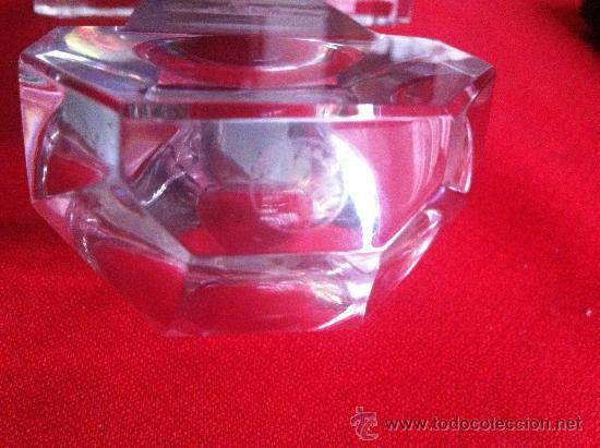 Antigüedades: antigua benditera de cristal baccarat frances firmada - Foto 2 - 34279204