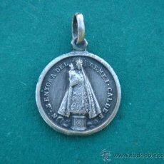 Antigüedades: MEDALLA RELIGIOSA ANTIGUA EN PLATA CONTRASTADA 800 -V. REMEI CALDES-. 1,7 CMS LONG.. Lote 34283083