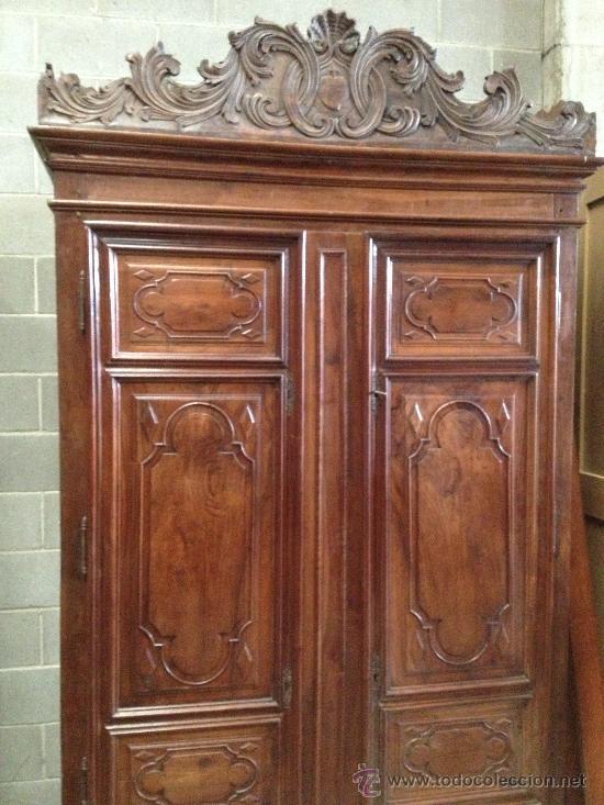 Importante armario catal n del xviii barroco e comprar for Armarios de cocina antiguos