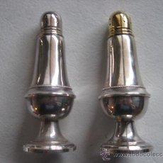 Antigüedades: MARAVILLOSA PAREJA DE SALEROS EN PLATA DE LEY 925, SELLADOS Y NUMERADOS.1930-40.. Lote 34294619