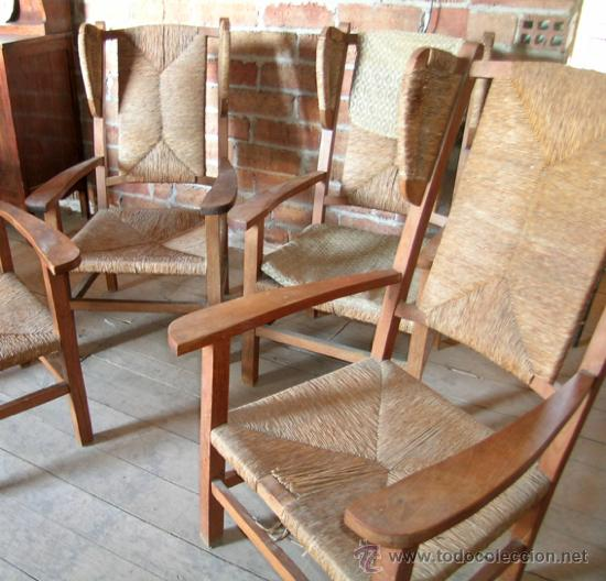 Originales 4 butacas de madera con orejeras as comprar - Butacas originales ...