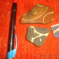 Antigüedades: LOT.1 ANTIGUO TROZO AZULEJO ANDALUZ, SEVILLA / CADIZ, ANTIGUA CERAMICA. Lote 34297839