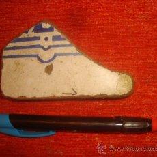 Antigüedades: LOT.1 ANTIGUO TROZO AZULEJO ANDALUZ, SEVILLA / CADIZ, ANTIGUA CERAMICA. Lote 34297919