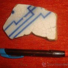 Antigüedades: LOT.1 ANTIGUO TROZO AZULEJO ANDALUZ, SEVILLA / CADIZ, ANTIGUA CERAMICA. Lote 34297961