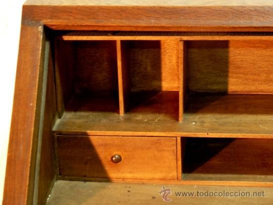 Antigüedades: Antiguo escritorio bargeño en roble.Principio siglo XX. 6cajones con cerradura en todos - Foto 4 - 34300941