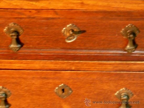 Antigüedades: Antiguo escritorio bargeño en roble.Principio siglo XX. 6cajones con cerradura en todos - Foto 5 - 34300941
