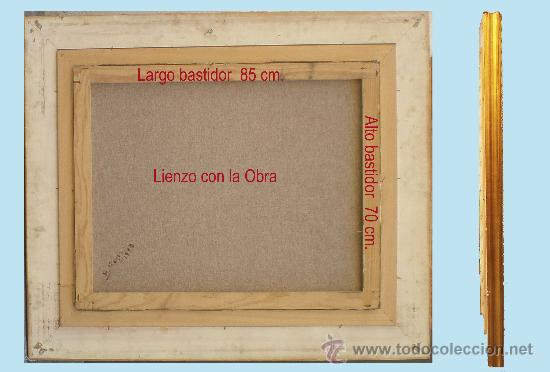 Antigüedades: REYES, MANUEL.-Madrid. -BODEGON- OLEO SOBRE LIENZO.85 x 70 cm. HIPERREALISMO.FIRMADO-MARCO DE LUJO. - Foto 5 - 34313935