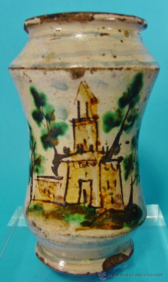 Antigüedades: PEQUEÑO TARRO DE FARMACIA, CALTAGIRONE, SICILIA. SIGLO XVIII. - Foto 2 - 34343779