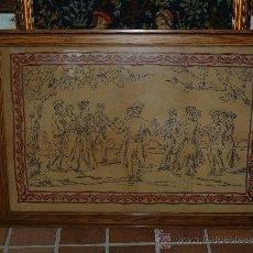 Antigüedades: PRECIOSO Y GRAN BORDADO-FINALES SIGLO XIX - SARDANA. Lote 34320926