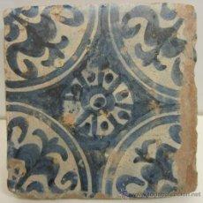 Antigüedades: AZULEJO GOTICO MANISES SIGLO XV.. Lote 34321378
