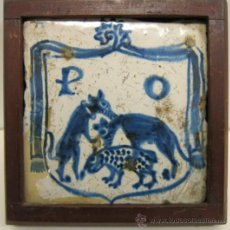 Antigüedades: AZULEJO DEL MONASTERIO DE POBLET. PRINC. SIGLO XVI. 12 X 12 CM. Lote 34326811