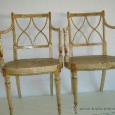 Antigüedades: PAREJA DE SILLONES. Lote 77615934