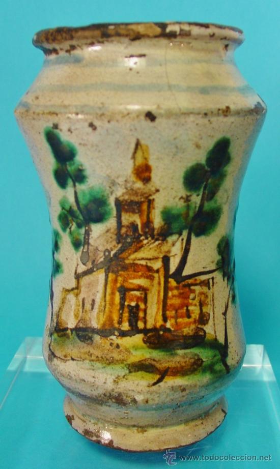 PEQUEÑO TARRO DE FARMACIA, CALTAGIRONE, SICILIA. SIGLO XVIII. (Antigüedades - Porcelanas y Cerámicas - Otras)