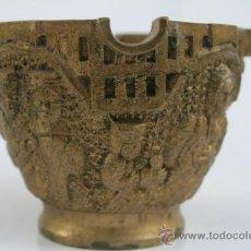 Antigüedades: CENICERO DE BRONCE AÑOS 60. Lote 34849542