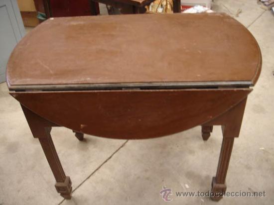 Mesa antigua plegable de madera con 2 cajones l comprar - Cajones de madera antiguos ...