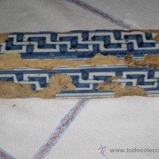 Antigüedades: ALIZAR ANTIGUO EN CERAMICA DE TALAVERA /TOLEDO. TECNICA PINTADA LISA - SIGLO XVI -AZULEJO.. Lote 34363442