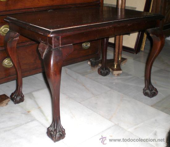 Preciosa mesa chippendale caoba maciza comprar for Baneras antiguas con patas baratas