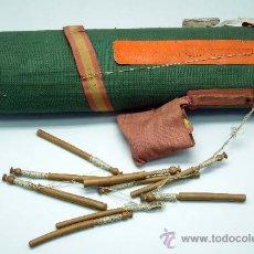 Antigüedades: COJÍN ALMOHADA PARA HACER ENCAJE BOLILLOS PALILLOS AÑOS 40. Lote 34403481