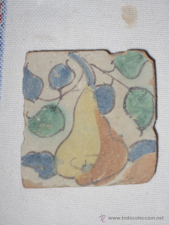 AZULEJO ANTIGUO ( OLAMBRILLA ) VALENCIA - ALCORA.- SIGLO XVIII (Antigüedades - Porcelanas y Cerámicas - Alcora)
