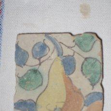 Antigüedades: AZULEJO ANTIGUO ( OLAMBRILLA ) VALENCIA - ALCORA.- SIGLO XVIII. Lote 34477924