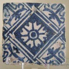 Antigüedades: AZULEJO GOTICO.VALENCIA SIGLO XV. Lote 34374430