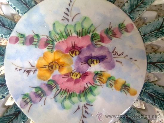 Antigüedades: antiguo frutero o centro de mesa de manises - Foto 4 - 34378271